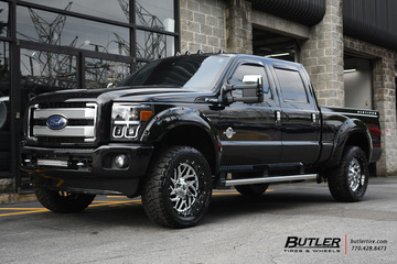 Ford F250 with 22in Fuel Triton Wheels