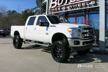 Ford F250 with 22in XD 865 Buck 25 Wheels