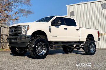 Ford F250 with 22in XF X307 Wheels