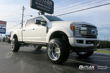 Ford F250 with 24in Forgiato Ventaglio-T Wheels