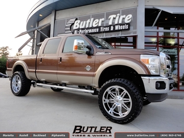 Ford F250 with 24in Fuel Hostage Wheels