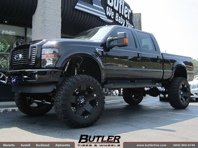 Ford F250 With 24in Xd Rockstar Wheels Exclusively From