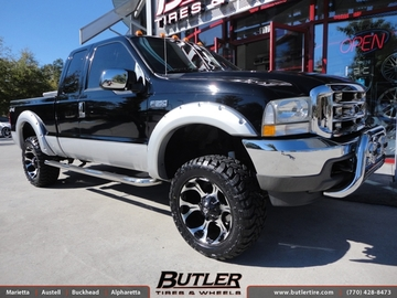 Ford F350 with 20in Fuel Dune Wheels