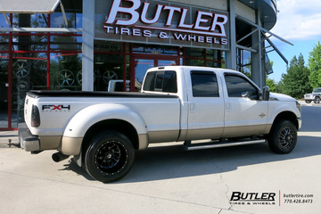 Ford F350 with 20in Fuel Triton Wheels