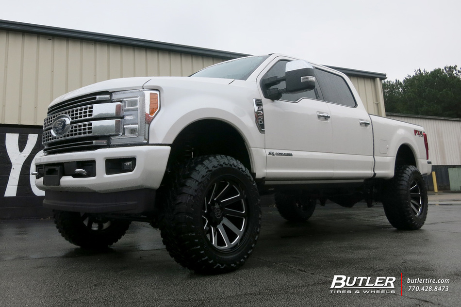 Ford F With In Black Rhino Thrust Wheels Large on Dodge Truck Struts