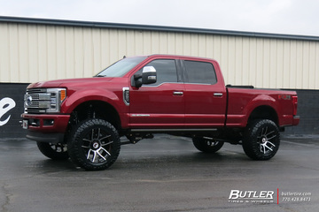Ford F350 with 22in Forgiato FT01 Wheels