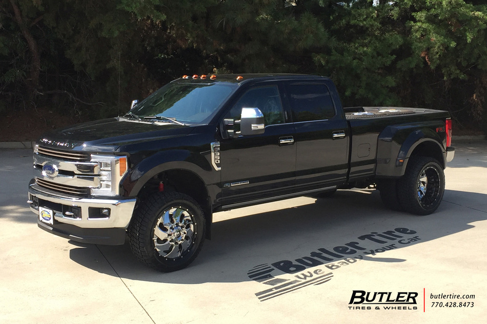 Ford F350 with 22in Fuel Cleaver Wheels exclusively from ...