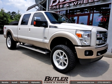 Ford F350 with 22in Fuel Maverick Wheels