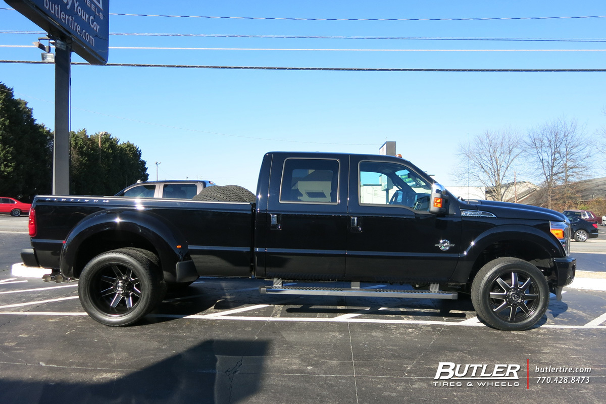 Ford F350 with 22in Fuel Maverick Wheels exclusively from