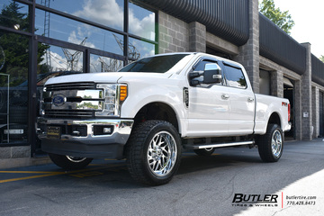 Ford F350 with 22in Fuel Triton Wheels
