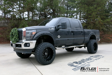 Ford F350 with 22in Hostile Sprocket Wheels