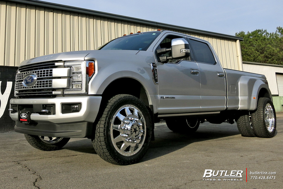Ford F350 with 24in American Force Independance Wheels ...