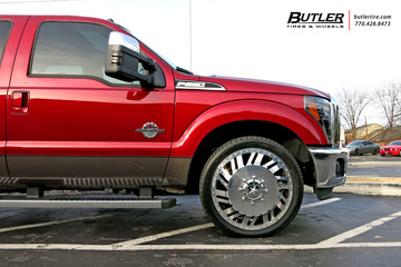 Ford F350 with 24in American Force Shift Wheels