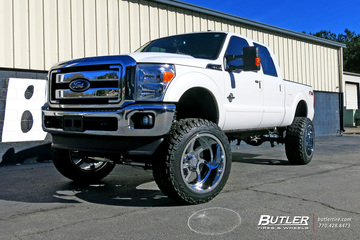Ford F350 with 24in Forgiato Azioni Wheels