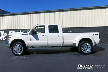 Ford F350 with 24in Fuel FF45D Wheels