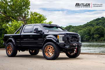 Ford F350 with 24in Grid Offroad GF7 Wheels