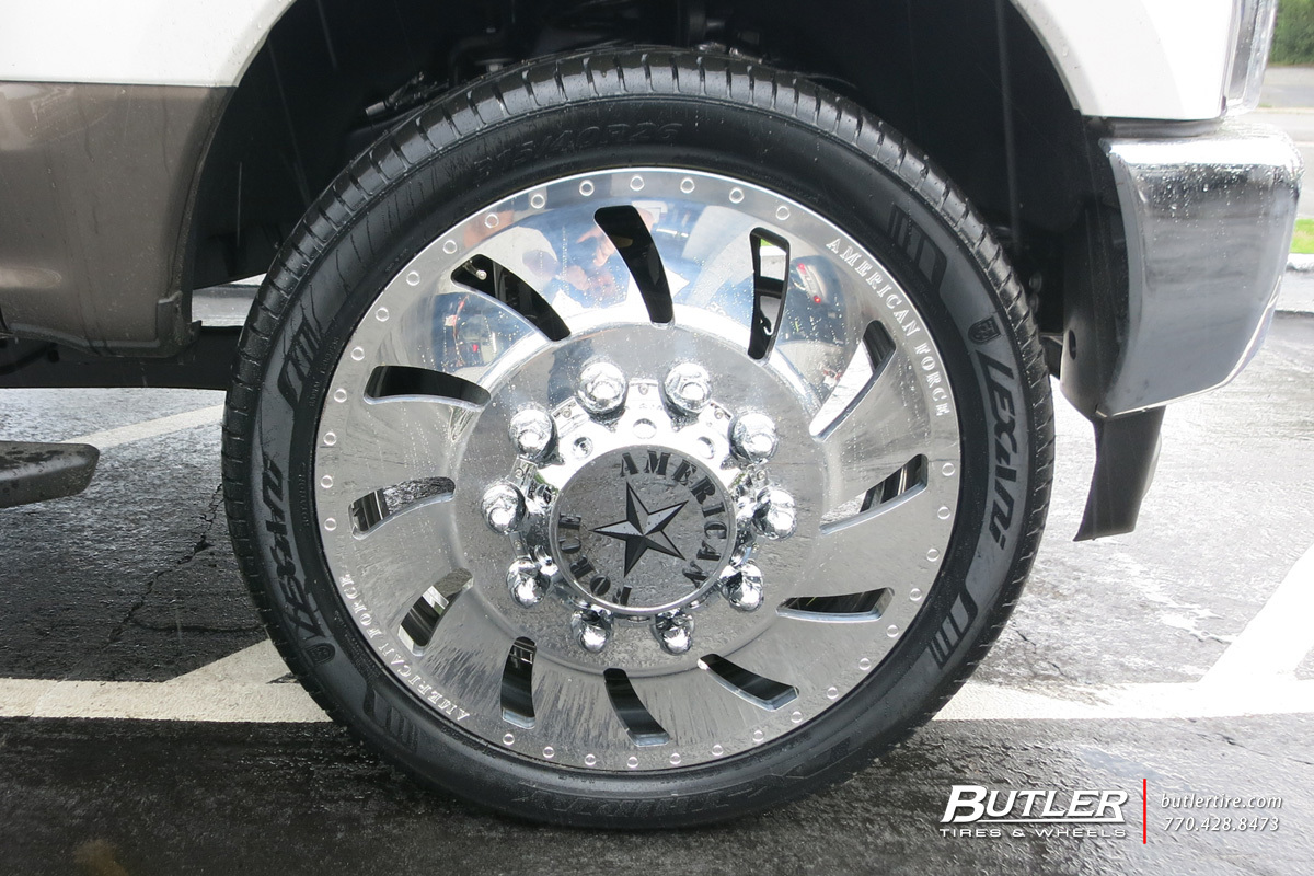 ford f350 with 26in american force concept wheels exclusively from