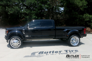 Ford F450 with 28in Fuel FF19D Wheels