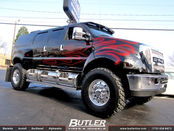 Ford F650 with 20in GLC Bullet Wheels