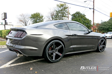 Ford Mustang with 20in Niche Milan Wheels