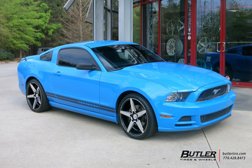 Ford Mustang with 20in Savini BM11 Wheels