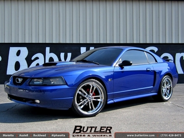 Ford Mustang with 20in TSW Mondello Wheels
