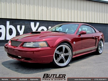Ford Mustang with 20in TSW Strip Wheels