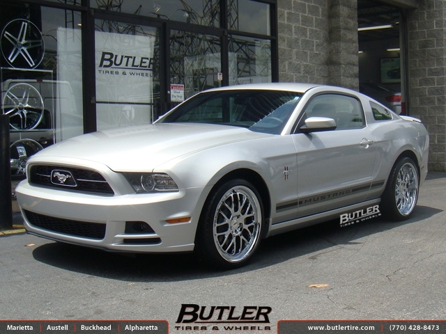 Ford Mustang with 20in TSW Valencia Wheels