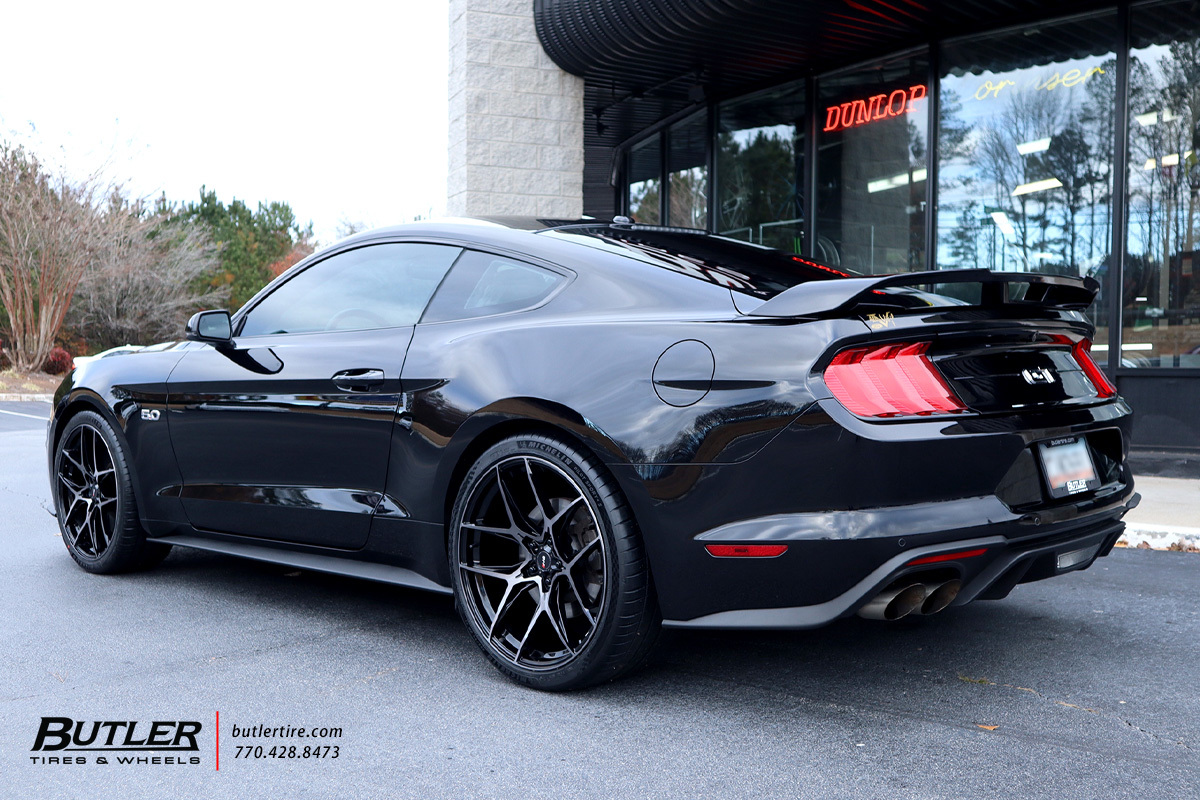 Ford Mustang with 21in Savini SV-F5 Wheels
