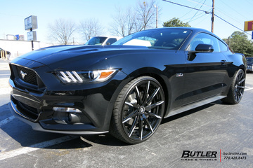 Ford Mustang with 22in Lexani CSS15 Wheels