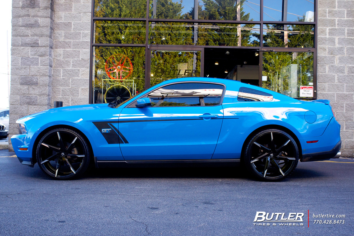 Ford Mustang With 22in Lexani Css7 Wheels Exclusively From