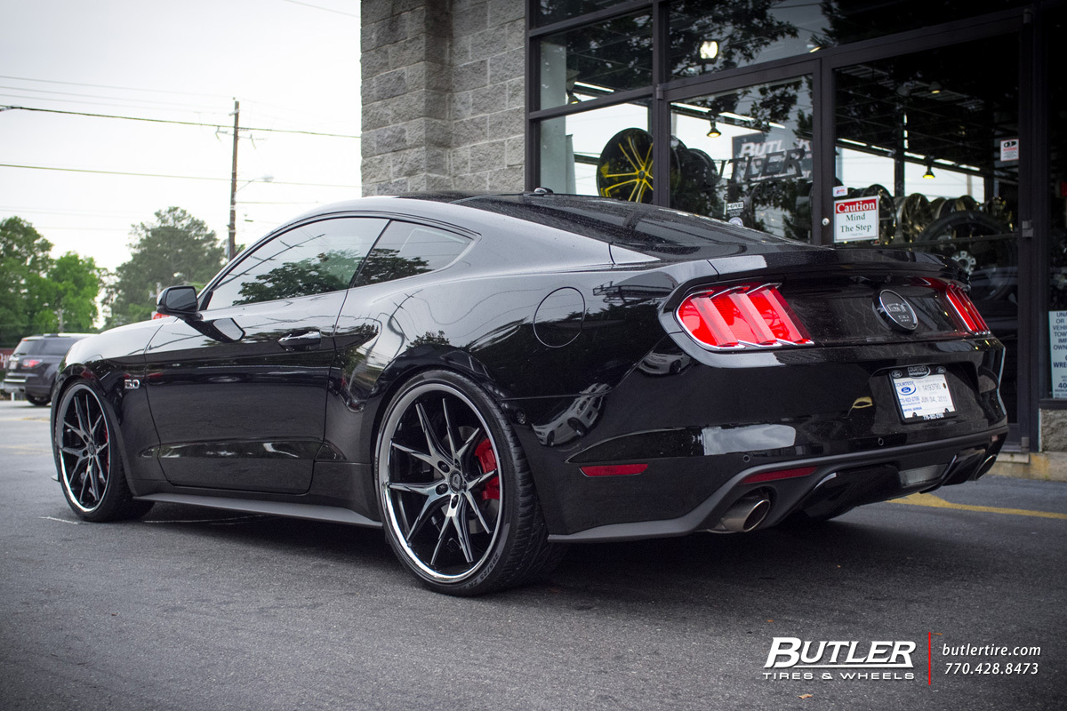 Ford Mustang with 22in Lexani R-Twelve Wheels