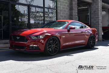 Ford Mustang with 22in Savini SV-F2 Wheels