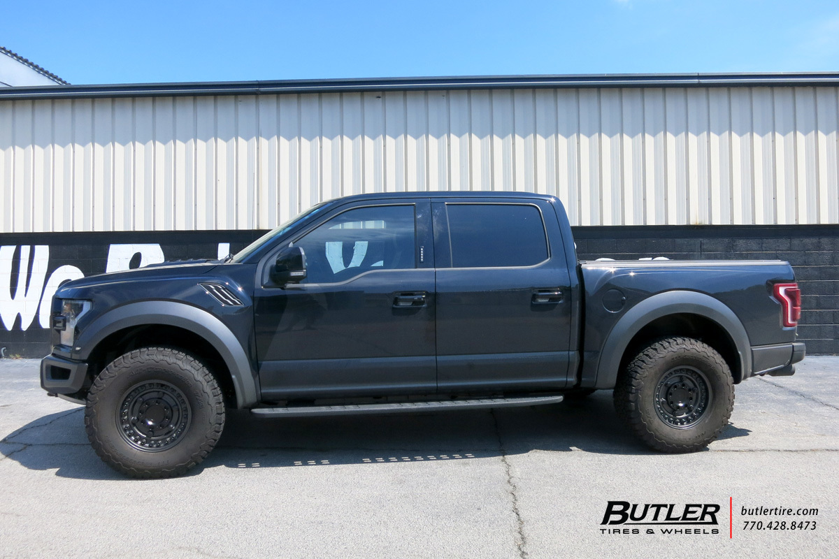 Ford Raptor with 17in Black Rhino Armory Wheels