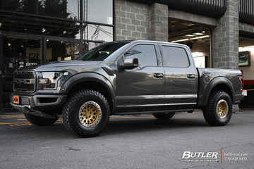 Ford Raptor with 17in Black Rhino Primm Beadlock Wheels