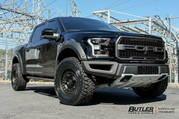 Ford Raptor with 18in Black Rhino Armory Wheels