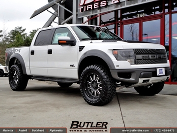 Ford Raptor with 20in Black Rhino Armour Wheels