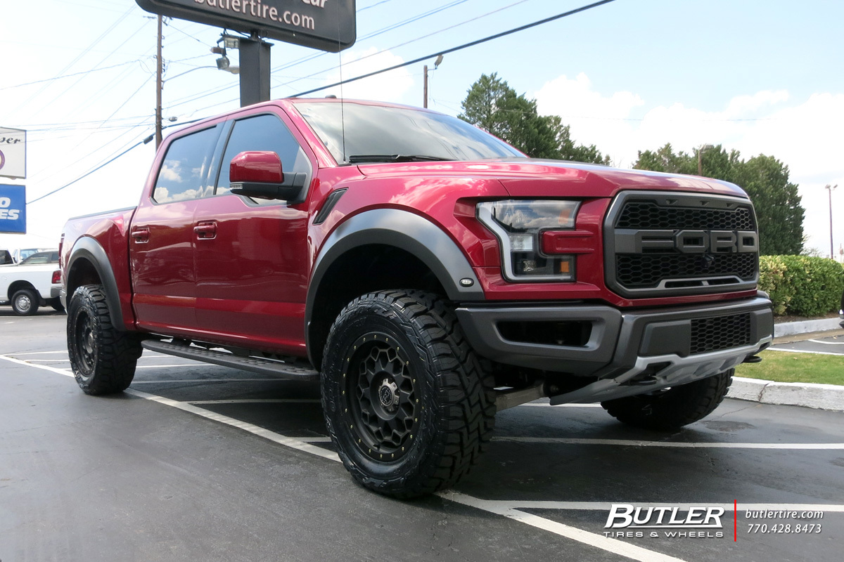 Ford Raptor with 20in Black Rhino Diamante Wheels