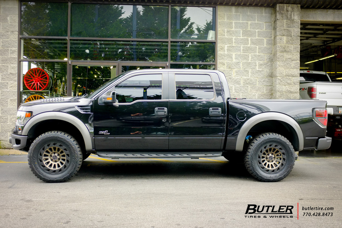 Ford Raptor with 20in Black Rhino Madness Wheels ...
