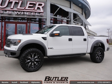 Ford Raptor with 20in Fuel Throttle Wheels