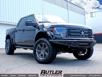 Ford Raptor with 20in Savini SV48d Wheels