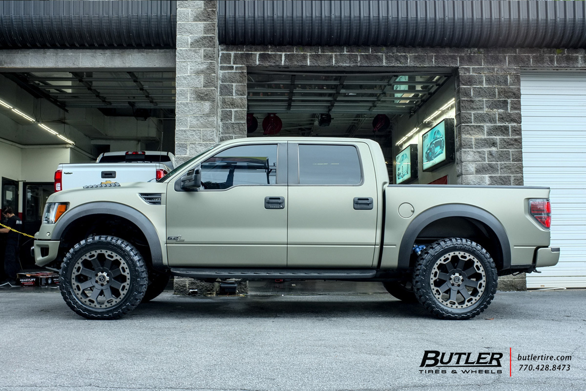 Road Rhino Bumper >> Ford Raptor with 22in Black Rhino Warlord Wheels exclusively from Butler Tires and Wheels in ...