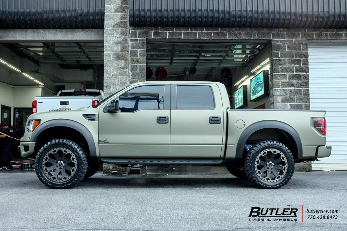 Ford Raptor with 22in Black Rhino Warlord Wheels ...