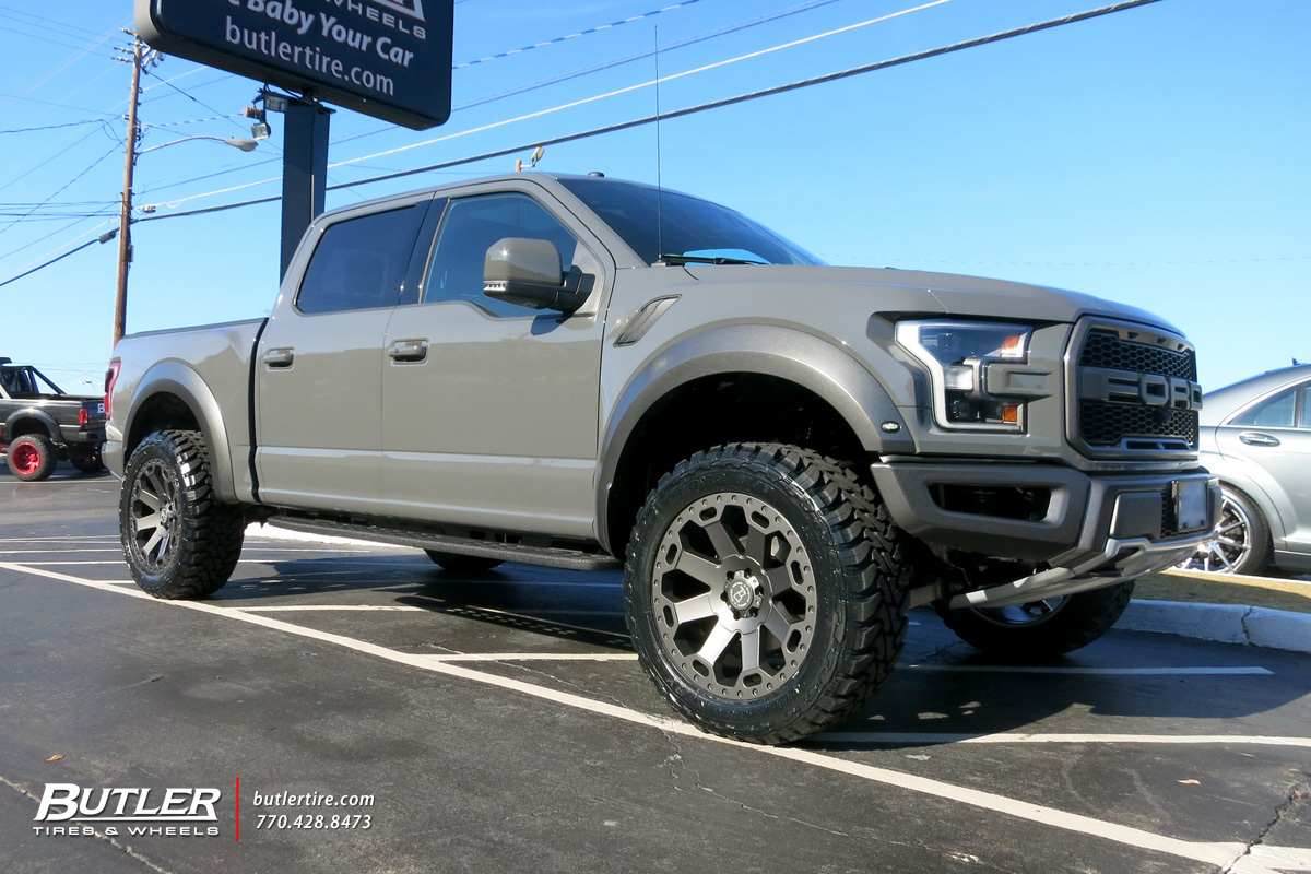 Ford Raptor with 22in Black Rhino Warlord Wheels