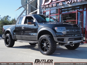 Ford Raptor with 22in DPR Stealth Wheels