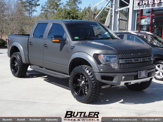 Ford Raptor with 22in Fuel Octane Wheels