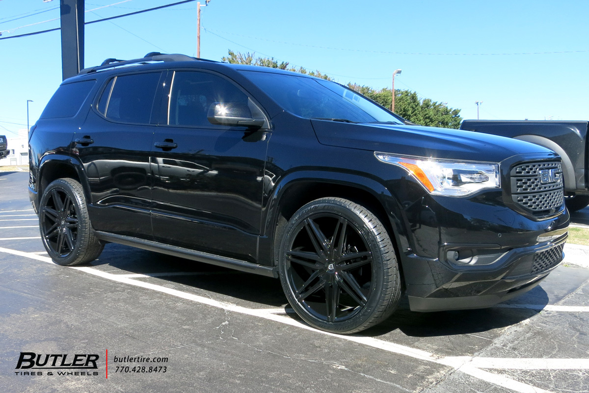 Blacked Out Land Rover >> GMC Acadia with 22in Lexani Johnson II Wheels exclusively from Butler Tires and Wheels in ...