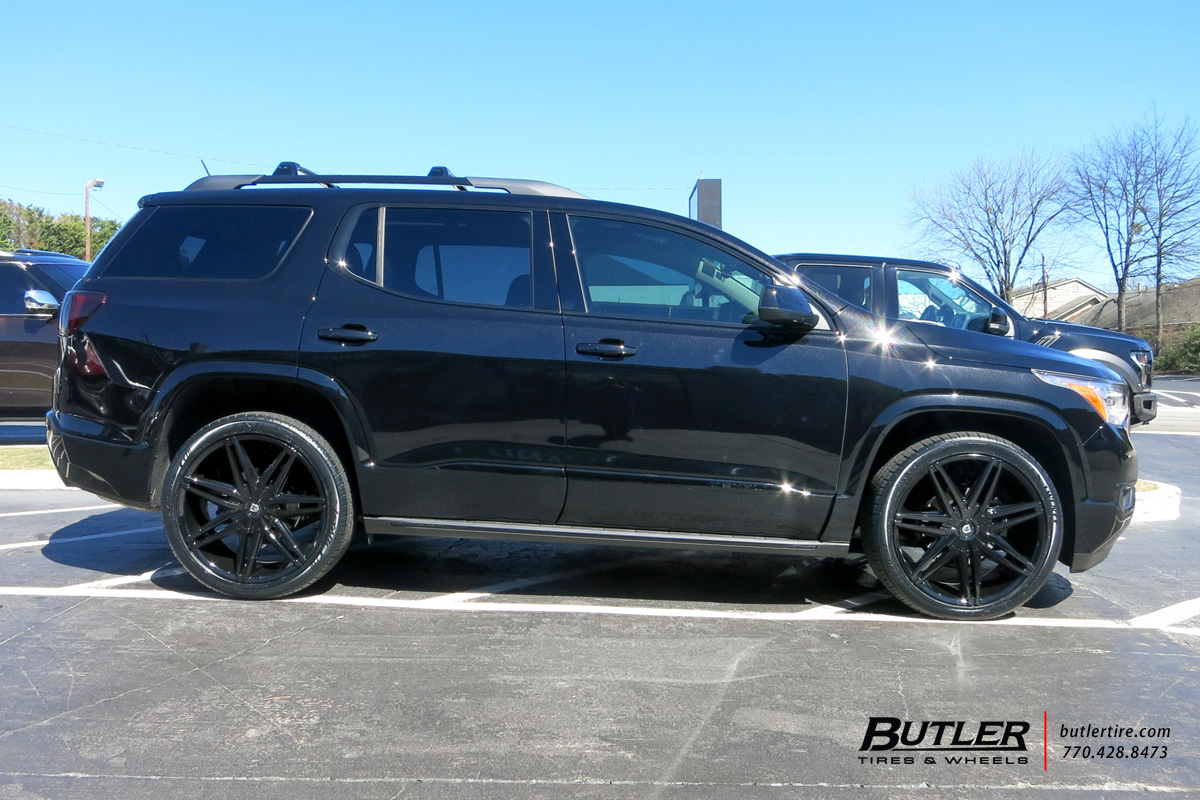 Off Road Rims And Tires Package >> GMC Acadia with 22in Lexani Johnson II Wheels exclusively ...