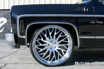 GMC C10 with 26in DUB Tryst Wheels