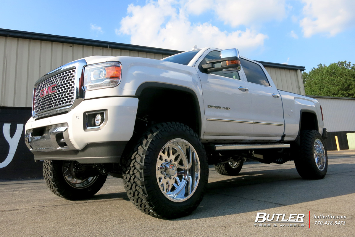GMC Denali with 22in American Force Trax Wheels